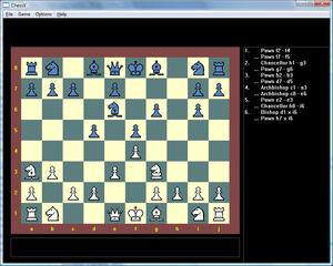 Chessv running in Windows Vista