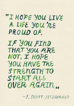I hope you live