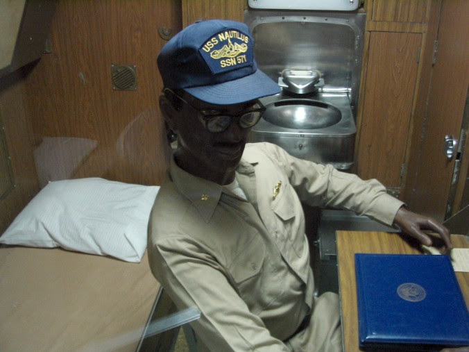 Officer's cabin on a submarine.