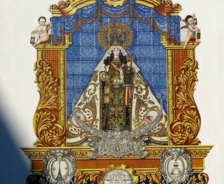 Los detalles del retablo cer mico de nuestra se ora del for Ceramicos en cordoba
