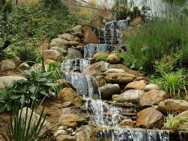 Backyard landscaping ideas with waterfalls