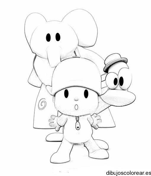 Dibujo De Pocoyó Y Sus Amigos Aterrados