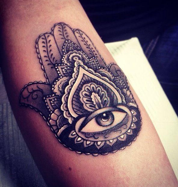 Amazing Ornaments Hamsa Tattoo Tattoomagz