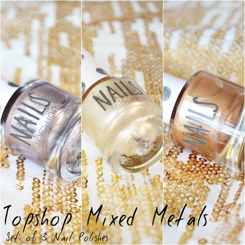 Topshop Mixed Metals Nail Polish Set
