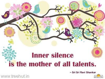 Quote On Inner Silence By Sri Sri Ravi Shankar