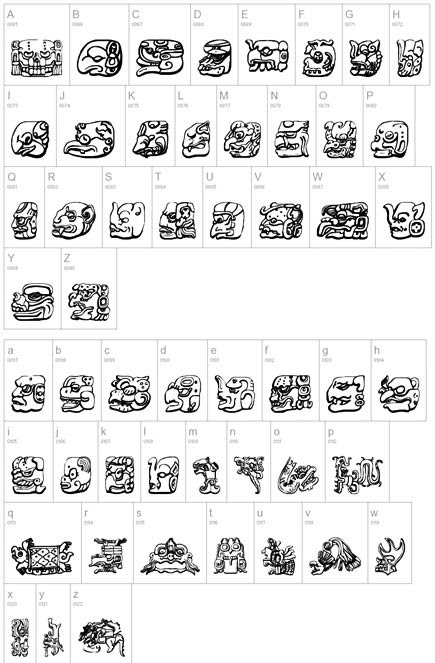 Labels: letter tattoo design. I want to get a Mayan font form tattoo of my
