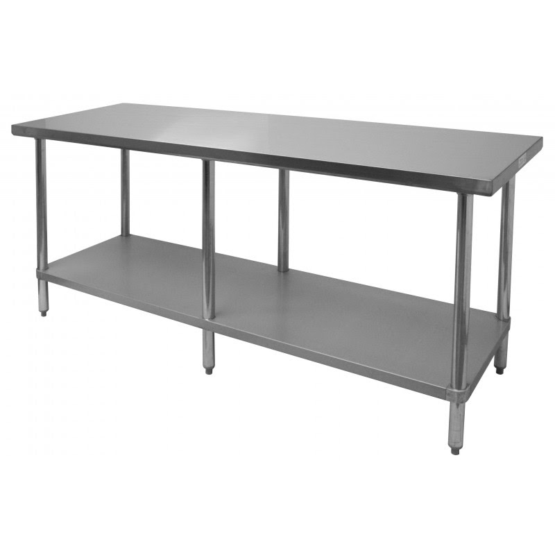 Commercial Work Table - Stainless Steel Top, Galvanized ...