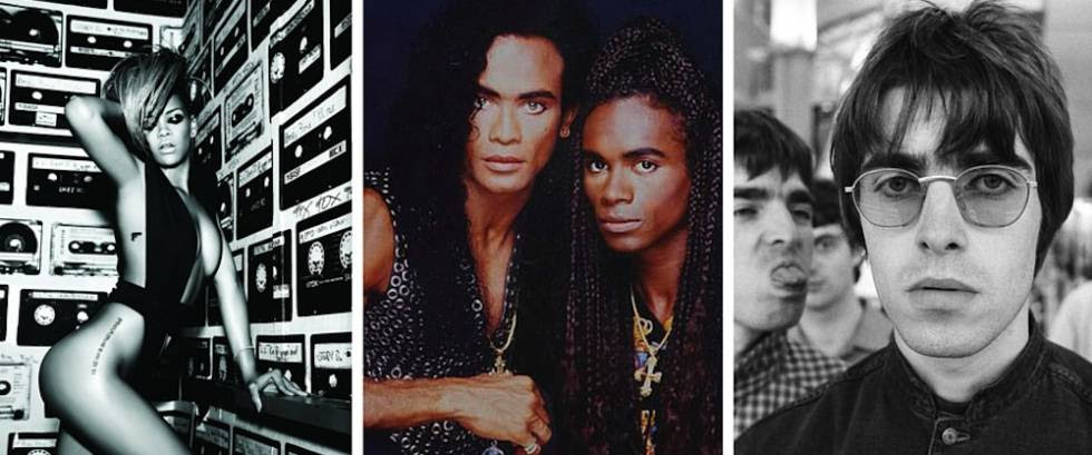 Rihanna, Milli Vanilli e Oasis, fraudes do pop.
