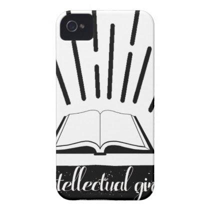 Intellectual Girl Funny Nerd Slogan Print iPhone 4 Case-Mate Case