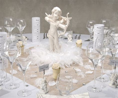 Love angel themed wedding table   Wedding Table Design