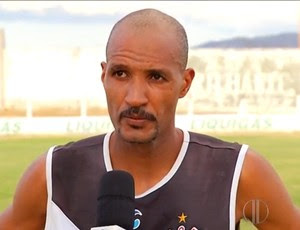 Márcio Costa - zagueiro do Corintians-RN (Foto: Reprodução/Inter TV Cabugi)
