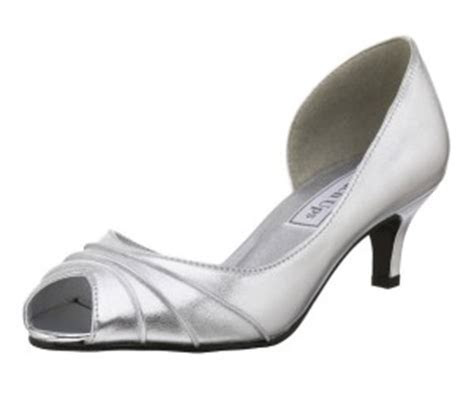 Silver wide width wedding shoes for women   up to size 12