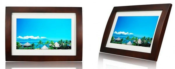 10 Photo Frame Multimedia Wood Frame With Remote Sylvania