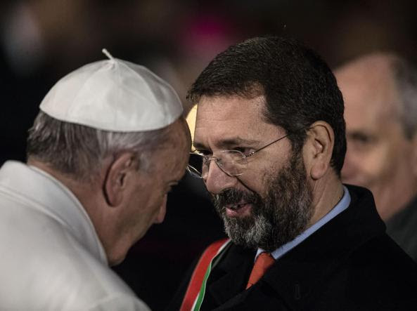 Papa Francesco e Ignazio Marino