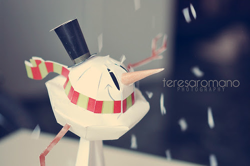 HBW! Snow man paper toy