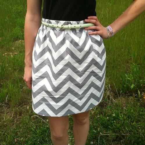 Chevron Skirt