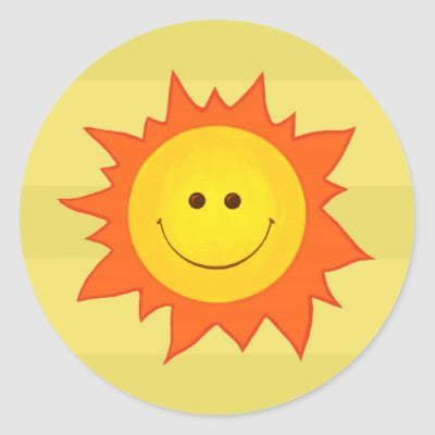 Happy Smiling Sun sticker