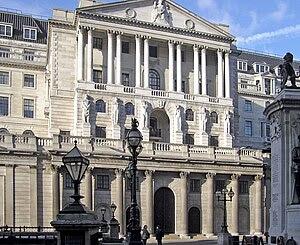 The Bank of England in Threadneedle Street, Lo...