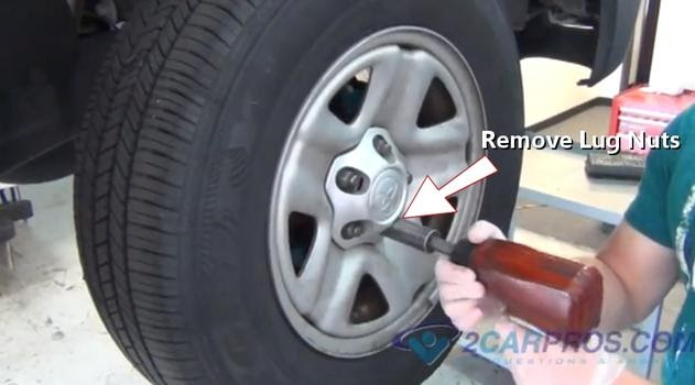car repair world how to replace front brake pads and rotors on rear wheel drive vehicles. Black Bedroom Furniture Sets. Home Design Ideas
