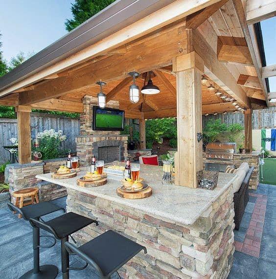 Top 50 Best Backyard Outdoor Bar Ideas - Cool Watering Holes