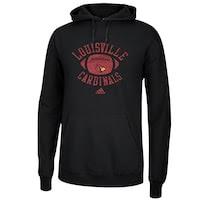 adidas Louisville Cardinals Football Practice Hoodie - Black