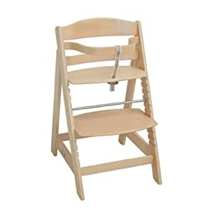 Treppenhochstuhl mit höhen- verstellbarem Fuß-/Sitzbrett