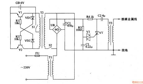 electric fence: electric fence capacitor sing el wire electric fence circuit diagram #1