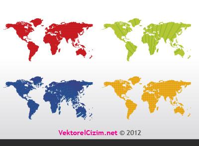 Vektörel çizim Dünya Haritası