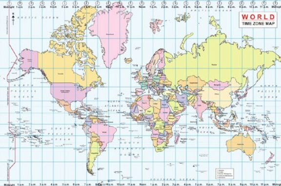 Peaceful image within printable usa time zones map