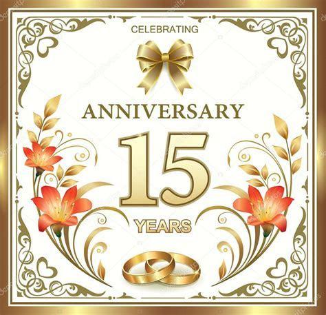 15 years wedding anniversary ? Stock Vector © seriga #77346294