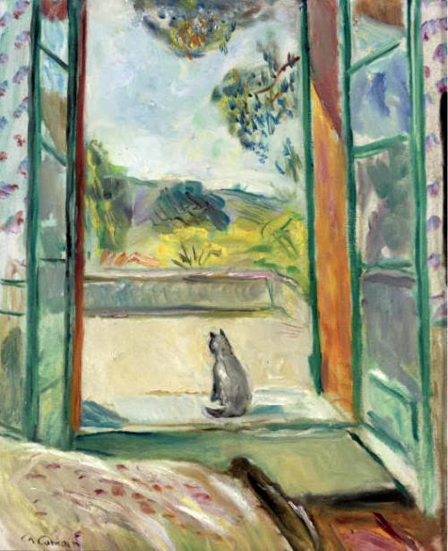 Cat Before An Open Window by Charles Camoin