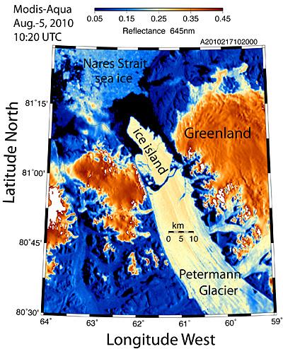 Grönlannin jäätiköstä irtosi valtava jäälautta