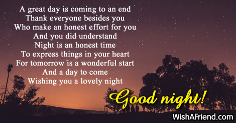 A Great Day Is Coming To Cute Good Night Message
