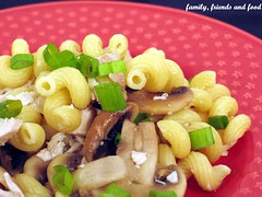 Cavatappi chicken and mushrooms