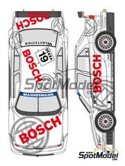 Shunko Models: Calcas escala 1/24 - Alfa Romeo 155 V6 TI Bosch Nº 19 - Jason Watt (DK) - DTM 1996 - para kits de Tamiya
