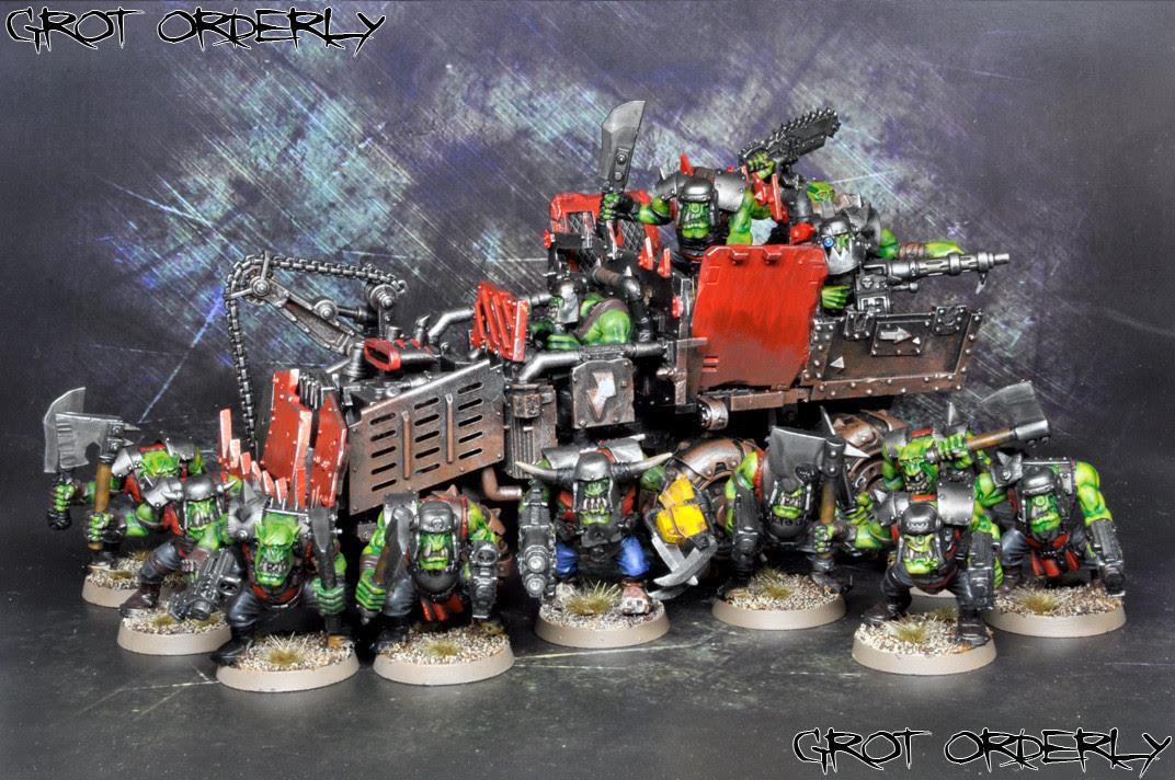 games, workshop, warhammer, 40k, 40000, grot orderly, orks, orki, trukk, boyz