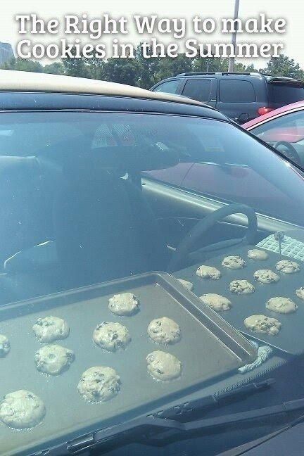 the right way to make cookies in the summer