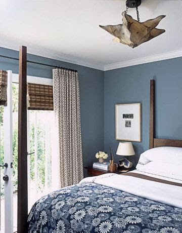 A Nurse And A Nerd: Finding Inspiration for a Blue Bedroom