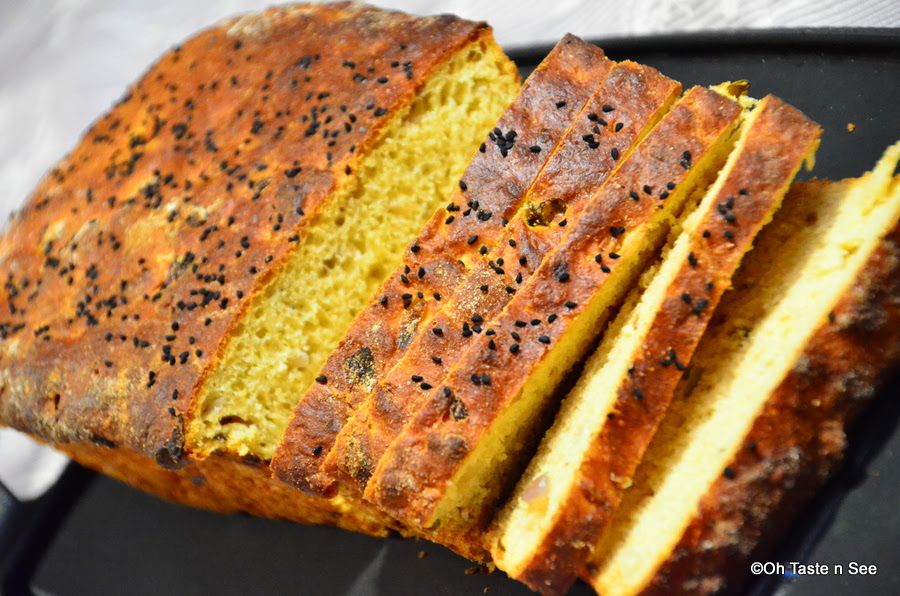 Spicy Whole Wheat Onion Bread(Khara Bread) | Oh Taste n ...
