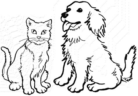 dog  cat coloring pages getcoloringpagescom