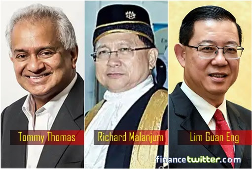 Attorney General Tommy Thomas - Chief Justice Richard Malanjum - Finance Minister Lim Guan Eng