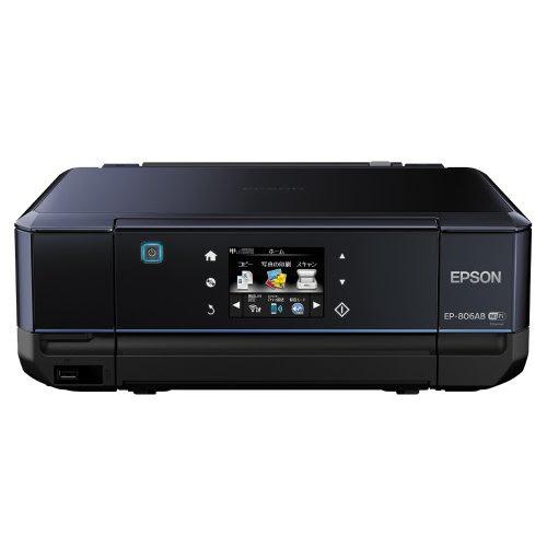 EPSON インクジェット複合機 Colorio EP-806AB 無線 有線 スマートフォンプリント Wi-Fi Direct ブラック