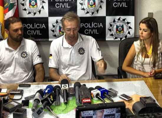Imagens da entrevista coletiva da Polícia Civil (Instagram/Reprodução)