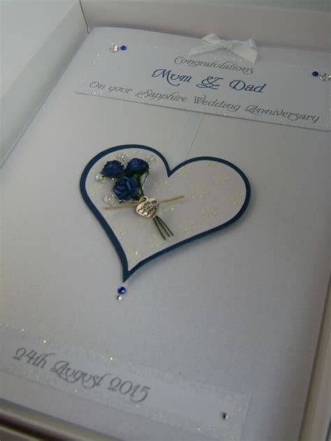 Personalised Sapphire 45th Wedding Anniversary Card