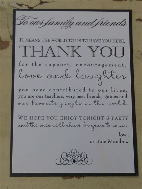 The 25  best Wedding thank you wording ideas on Pinterest