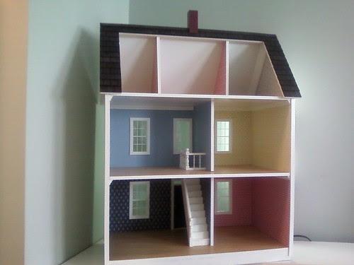 Interior of dollhouse