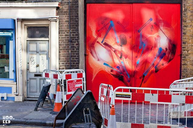 Shok-1 'Hearts & Minds' Brick Lane Street Art Mural in London