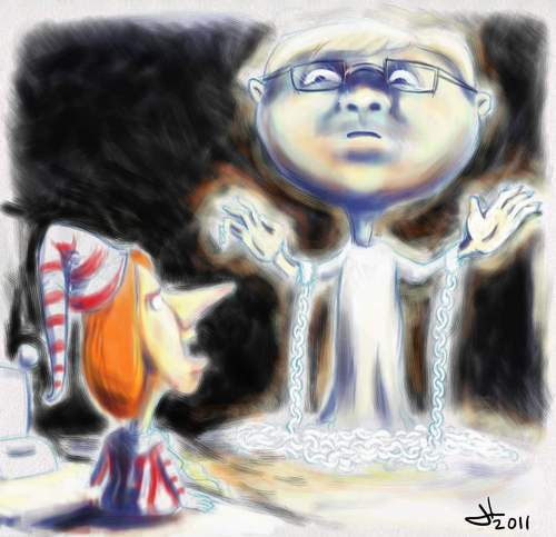 Cartoon: Kevins Ghost (medium) by urbanmonk tagged politics,australia,politicians
