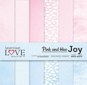 Zestaw papierów - Pink and blue JOY - 30,5 cm x 30,5 cm - Laserowe LOVE