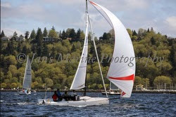 J/70 sailing PSSR Regatta in Seattle, WA